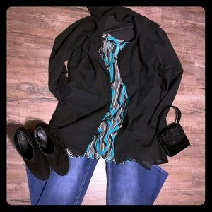 NWOT Black Waterfall Jacket